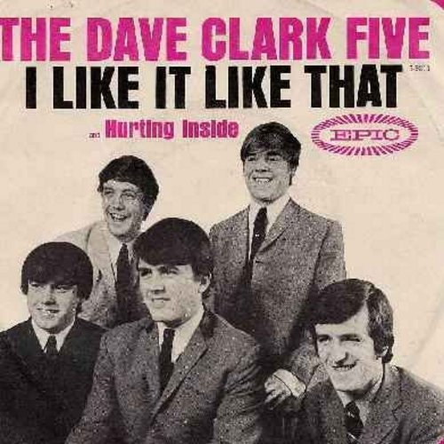 Clark, Dave Five - I Like It Like That/Hurting Inside (with picture sleeve) - EX8/EX8 - 45 rpm Records