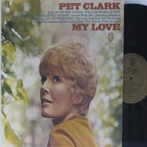 Clark, Petula - My Love: A Sign Of The Times, We Can Work It Out, Time For Love, Where Did We Go Wrong, If I Were A Bell (vinyl MONO LP record) - EX8/EX8 - LP Records
