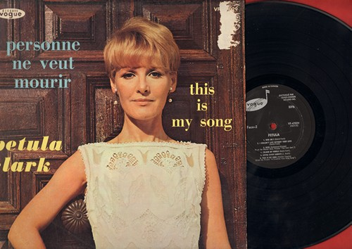 Clark, Petula - Personne ne veut mourir - This Is My Song: Petula Clark sings in French and English (Vinyl LP record, Canadian Pressing) - EX8/VG7 - LP Records