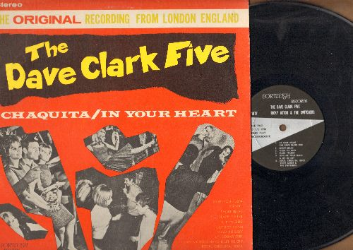 Clark, Dave Five, Ricky Astor & The Switchers - Chaquita/In Your Heart: Short Bread, Ricky's Girl, Hot Rod Fjord, Pizza Pie Baby, Rock Chiquita Rock (Vinyl STEREO LP record) - EX8/VG7 - LP Records