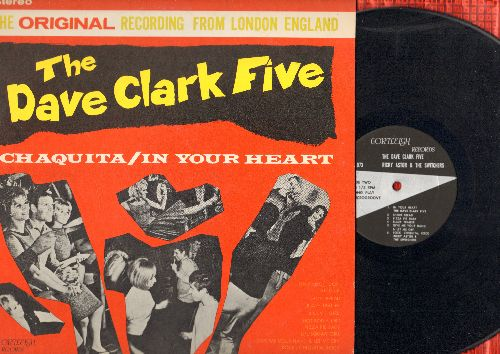 Clark, Dave Five, Ricky Astor & The Switchers - The Dave Clark Five: Chaquita, In Your Heart, Flossie, Short Bread, Pizza Pie Baby, Happy Don Don, Hot Rod Fjord (Vinyl STEREO LP record) - NM9/EX8 - LP Records