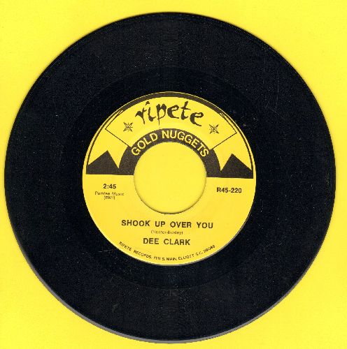 Clark, Dee - Shook Up Over You/Joy (by Apollo 100 on flip-side) (re-issue) - NM9/ - 45 rpm Records