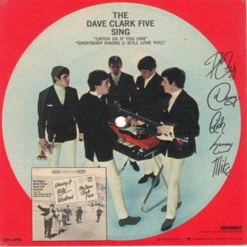 Clark, Dave Five - The Dave Clark Five Sing: Catch Us If You Can/Everybody Knows - RARE 5 1/2 inch card-board 33rpm picture disc - Was issued as FREE Bonus with purchase of Pond's gel. - EX8/ - LP Records