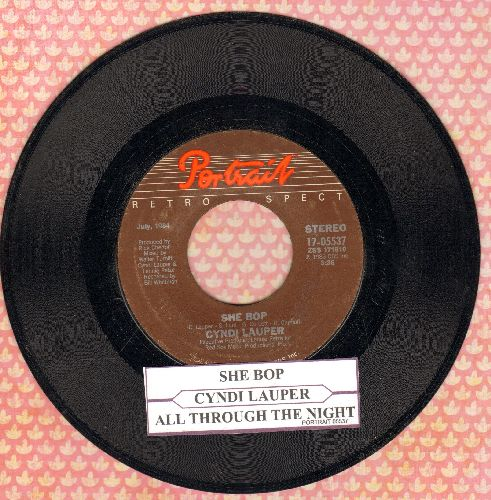 Lauper, Cyndi - She Bop/All Through The Night (double-hit re-issue with juke box label) - EX8/ - 45 rpm Records