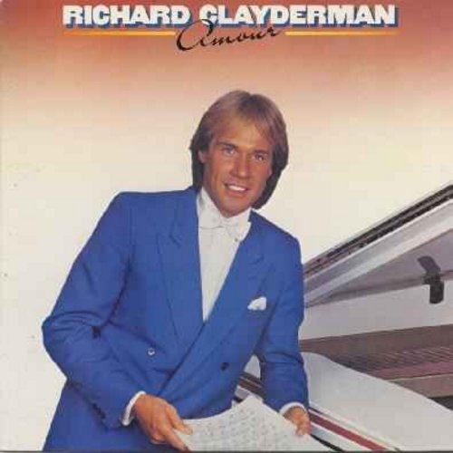Clayderman, Richard - Amour: Memory, Chariots Of Fire, Up Where We Belong, Ballade Pour Adeline, How Deep Is Your Love, Only You, Ave Maria (Vinyl LP record) - NM9/NM9 - LP Records
