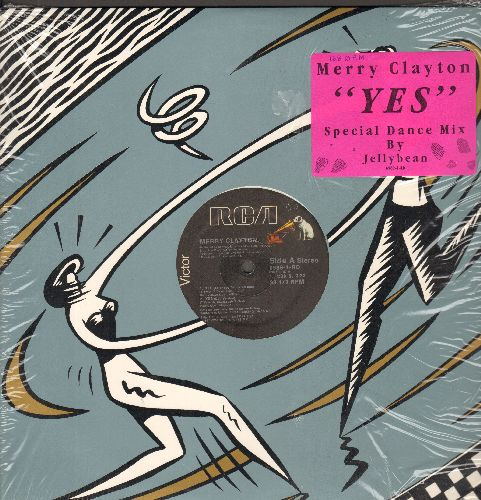 Clayton, Merry, Bill Medley & Jennifer Warnes - Yes - 12 inch vinyl Maxi Single - 4 Tracks includes Extended Version of -Time Of My Life- by Bill Medley & Jennigfer Warnes from film -Dirty Dancing- - NM9/ - Maxi Singles