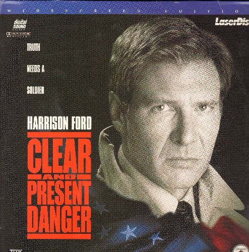 Clear And Present Danger - Clear And Present Danger - The 1995 Action Thriller starring Harrison Ford on 2 LASERDISCS, Widescreen Edition! - NM9/EX8 - LaserDiscs