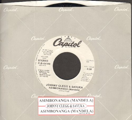 Clegg, Johnny & Savuka - Asibonanga (Mandela) (double-A-dided DJ advance pressing with juke box label and Capitol company sleeve) - NM9/ - 45 rpm Records