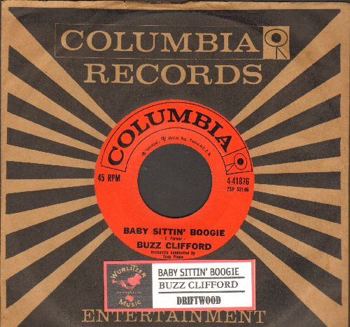 Clifford, Buzz - Baby Sittin' Boogie/Driftwood (MINT condition with Columbia company sleeve and juke box label) - NM9/ - 45 rpm Records