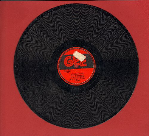 Cleftones - You Baby You/I Was Dreaming (RARE 10 inch 78rpm record, minor label blemish) - EX8/ - 78 rpm