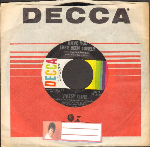 Cline, Patsy - Have You Ever Been Lonely/Hidin' Out (with Decca company sleeve) - NM9/ - 45 rpm Records