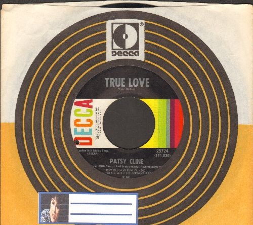 Cline, Patsy - True Love/Love, Love, Love Me Honey Do (with Decca company sleeve) (bb) - EX8/ - 45 rpm Records