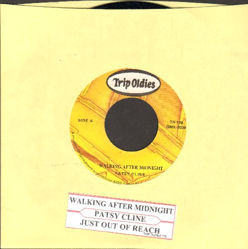 Cline, Patsy - Walking After Midnight/Just Out Of Reach (double-hit re-issue with juke box label) - NM9/ - 45 rpm Records
