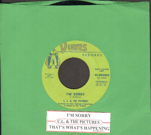 C. L. & The Pictures - That's What's Happening/I'm Sorry (RARE DJ advance pressing with juke box label) - EX8/ - 45 rpm Records