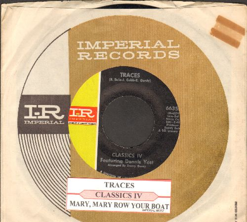 Classics IV - Traces/Mary, Mary Row Your Boat (with juke box label and company sleevew) - NM9/ - 45 rpm Records