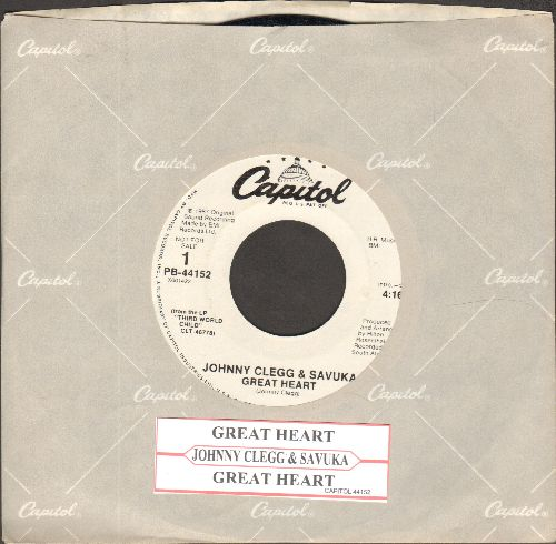 Clegg, Johnny & Savuka - Great Heart (double-A-dided DJ advance pressing with juke box label and Capitol company sleeve) - NM9/ - 45 rpm Records