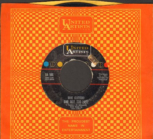 Clifford, Mike - One Boy Too Late/Danny's Dream (with United Artists company sleeve) - EX8/ - 45 rpm Records