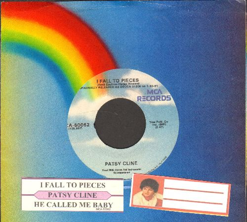 Cline, Patsy - I Fall To Pieces/He Called Me Baby (double-hit re-issue with juke box label and MCA company sleeve) - NM9/ - 45 rpm Records