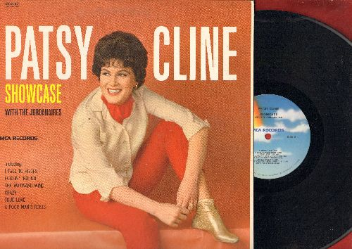 Cline, Patsy - Showcase: Crazy, I Fall To Pieces, The Wayward Wind, True Love, Walkin' After Midnight (vinyl LP record, re-issue of vintage recordings) - NM9/NM9 - LP Records