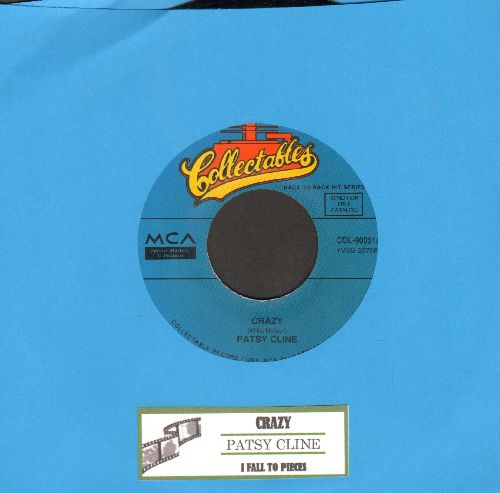 Cline, Patsy - Crazy Arms/Pick Me Up On Your Way Down (double-hit re-issue with juke box label) - NM9/ - 45 rpm Records
