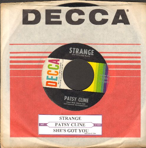 Cline, Patsy - Strange/She's Got You (with juke box label and Decca company sleeve) - EX8/ - 45 rpm Records