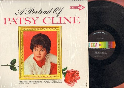 Cline, Patsy - A Portrait Of Patsy: Always, Someday You'll Want Me To Want You, Blue Moon Of Kentucky, When I Get Thru With You (You'll Love Me Too), Faded Love (Vinyl STEREO LP record, NICE condition, shrink wrap) - NM9/NM9 - LP Records