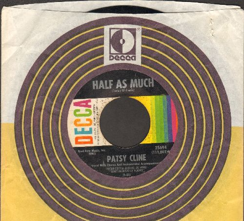 Cline, Patsy - Half As Much/Shoes (with Decca company sleeve) - VG7/ - 45 rpm Records