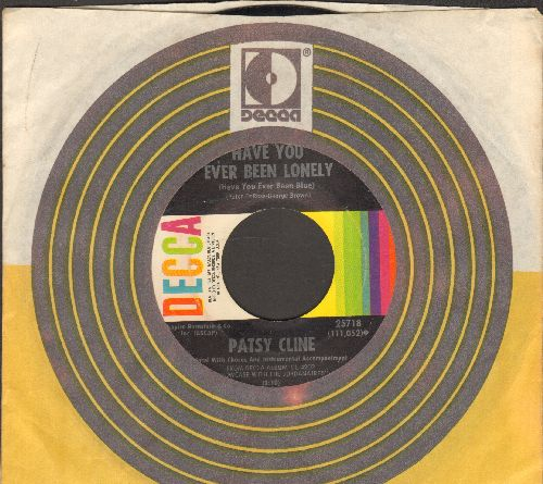 Cline, Patsy - Have You Ever Been Lonely/Hidin' Out (with Decca company sleeve) - VG7/ - 45 rpm Records