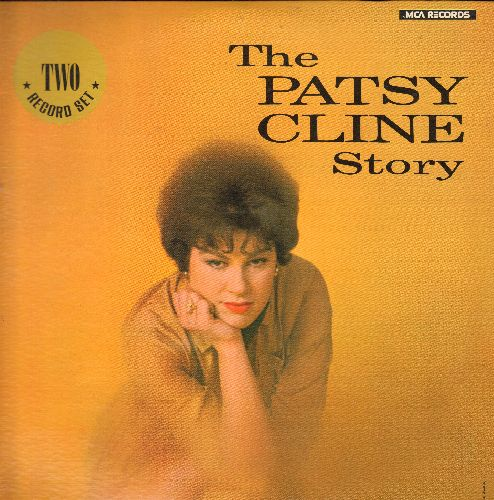 Cline, Patsy - The Patsy Cline Story:  Walking After Midnight, Sweet Dreams, Crazy, I Fall To Pieces, Strange, She's Got You, True Love, Wayward Wind (2 vinyl MONO LP record set, re-issue of vintage recordings) - NM9/EX8 - LP Records