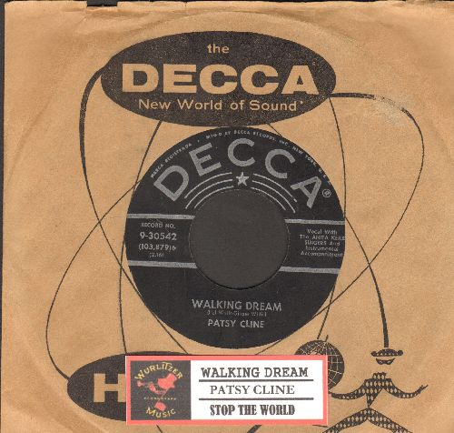 Cline, Patsy - Walking Dream/Stop The World (And Let Me Off) (with Decca company sleeve and juke box label) - VG7/ - 45 rpm Records