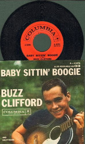 Clifford, Buzz - Baby Sittin' Boogie/Driftwood (with RARE picture sleeve, NICE condition!) - NM9/NM9 - 45 rpm Records