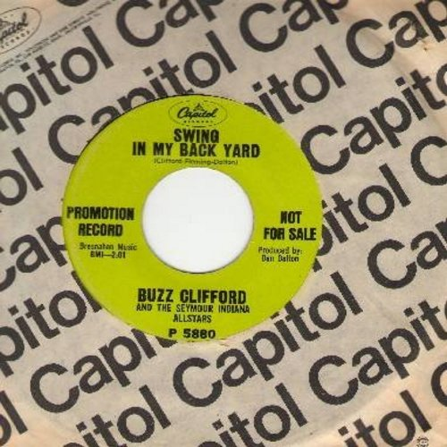 Clifford, Buzz - Swing In My Back Yard/Bored To Tears (DJ copy with Capitol company sleeve) - VG7/ - 45 rpm Records