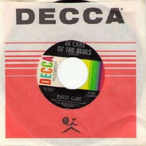 Cline, Patsy - In Care Of The Blues/Anytime (with vintage DECCA company sleeve) (bb) - VG7/ - 45 rpm Records