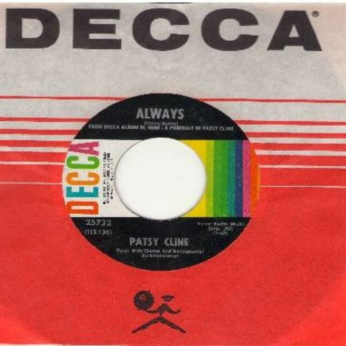 Cline, Patsy - Always/Pick Me Up On Your Way Down (with Decca company sleeve) - EX8/ - 45 rpm Records