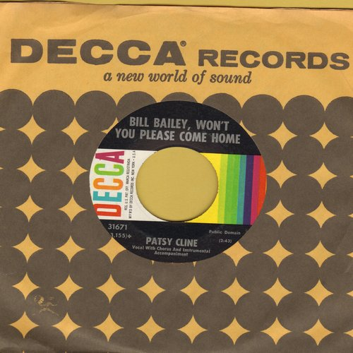 Cline, Patsy - Bill Bailey, Won't You Please Come Home/He Called Me Baby (with Decca company sleeve) - EX8/ - 45 rpm Records