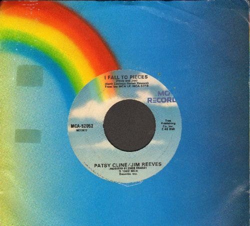 Cline, Patsy/Jim Reeves - I Fall To Pieces/So Wrong (re-issue with MCA company sleeve) - EX8/ - 45 rpm Records