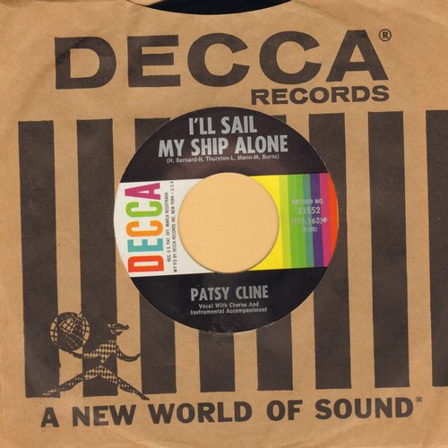 Cline, Patsy - When You Need A Laugh/I'll Sail My Ship Alone (with Decca company sleeve) (bb) - EX8/ - 45 rpm Records