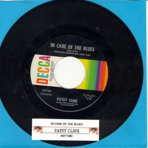 Cline, Patsy - In Care Of The Blues/Anytime (with juke box label) - EX8/ - 45 rpm Records