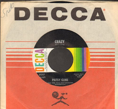 Cline, Patsy - Crazy/Who Can I Count On (with Decca company sleeve) - VG7/ - 45 rpm Records