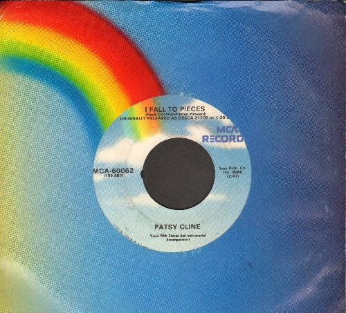 Cline, Patsy - I Fall To Pieces/He Called Me Baby (double-hit re-issue with MCA company sleeve) - NM9/ - 45 rpm Records