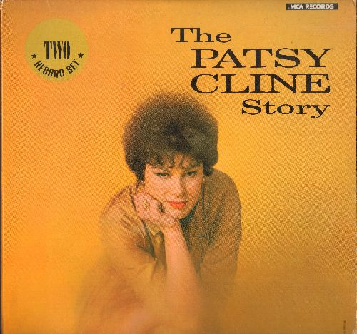 Cline, Patsy - The Patsy Cline Story: 24 Great Hits on 2 vinyl STEREO LP records, 1980s re-issue of vintage recordings. - NM9/NM9 - LP Records