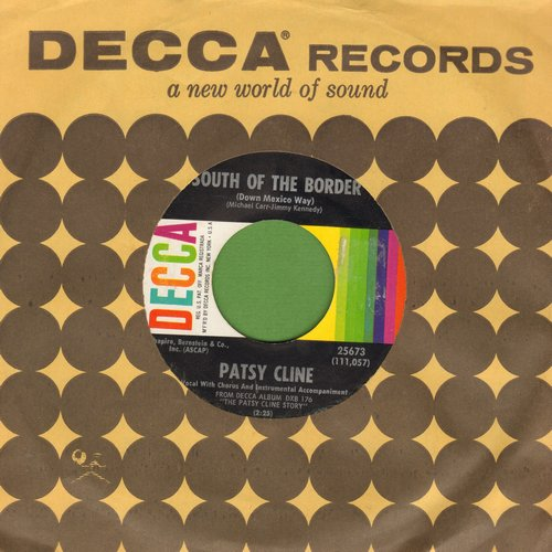 Cline, Patsy - South Of The Border/San Antonio Rose (with vintage Decca company sleeve) - EX8/ - 45 rpm Records