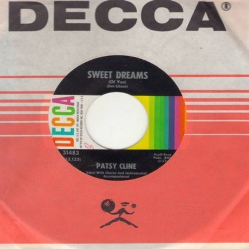Cline, Patsy - Strange/She's Got You (with Decca company sleeve) - VG7/ - 45 rpm Records