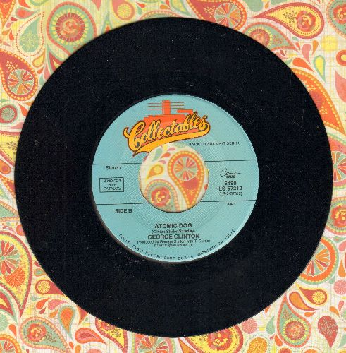 Clinton, George - Atomic Dog (Party Favorite!)/Papa-Oom-Mow-Mow (by The Rivingtons on flip-side) (re-issue) - NM9/ - 45 rpm Records