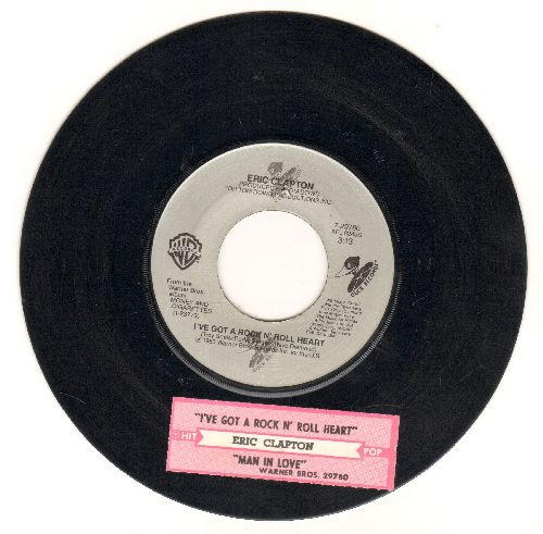 Clapton, Eric - Man In Love/I've Got A Rock N' Roll Heart (with juke box label) - VG7/ - 45 rpm Records