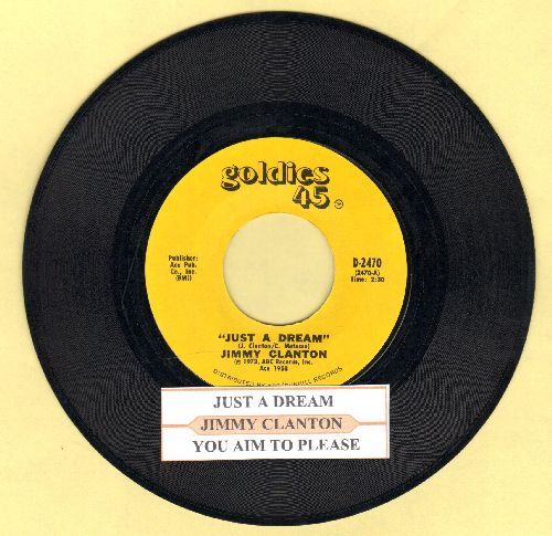 Clanton, Jimmy - Just A Dream/You Aim To Please (re-issue with juke box label) - EX8/ - 45 rpm Records