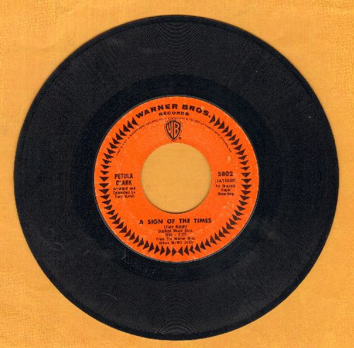 Clark, Petula - A Sign Of The Times/Time For Love  - EX8/ - 45 rpm Records