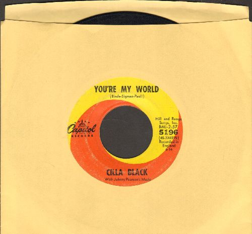Black, Cilla - You're My World/Suffer Now I Must - VG6/ - 45 rpm Records
