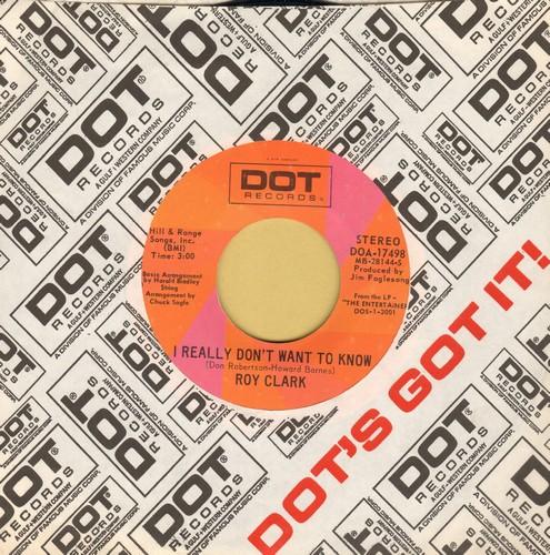 Clark, Roy - I Really Don't Want To Know/Honeymoon Feelin' (with Dot company sleeve) - NM9/ - 45 rpm Records