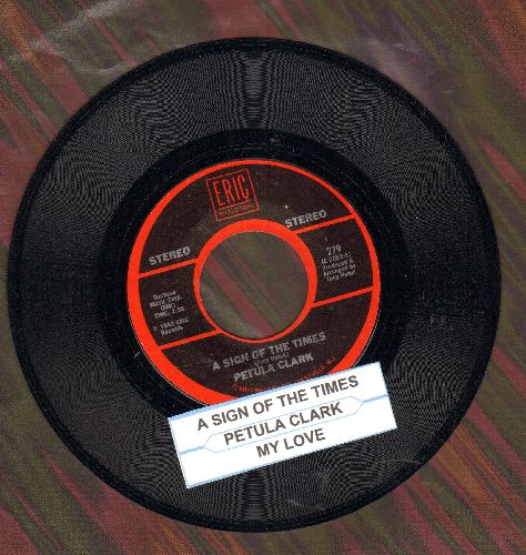 Clark, Petula - My Love/A Sign Of The Times (double-hit re-issue with juke box label) - NM9/ - 45 rpm Records